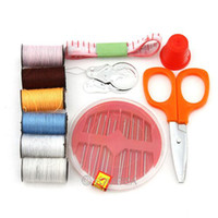 Wholesale Portable mini travel sewing box kit with color needle threads sewing kits sewing set For DIY HOME Tools