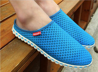 Wholesale 2013 New Arrival Summer Men Shoes Fashion Hottest Half Dragged Breathable Flats Casual Out Door Sneakers Gauze Sandles Colors CJ7