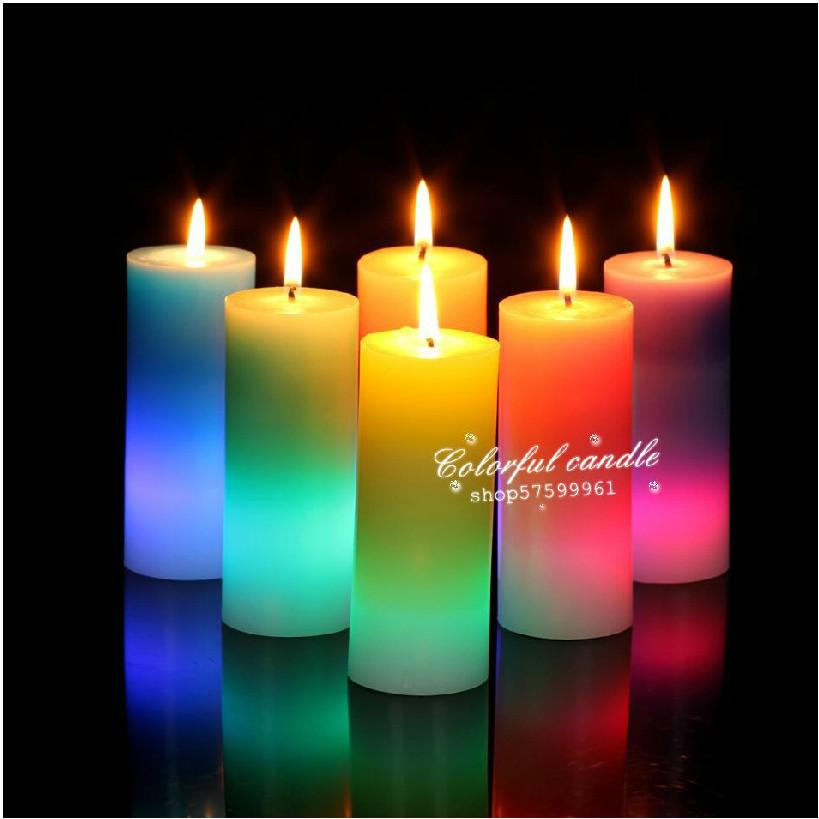 color rainbow led candle led pillar candle rainbow led candle