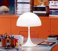 ac pan - Modern Verner Panton Panthella Pan Sela White Acrylic Table Lamp Living Room Bedroom Bedside Desk Lamp Dia mm H mm