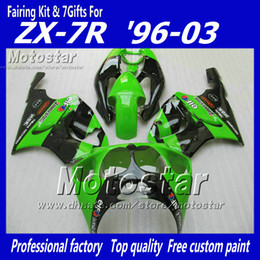 Glossy green black YY21 fairing kit FOR KAWASAKI Ninja ZX7R ZX-7R ZX 7R 1996 - 2003 zx-7 fairings kits 96 97 98 99 00 01 02 03