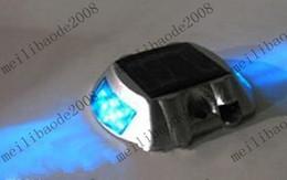 Wholesale Solar Gardening lighting solar aluminium signal lamp solar road stud LED Blue Bu MYY672