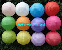 Wholesale round paper lanterns paper lamp for wedding xmas decoration party birthday white orange yellowcolor