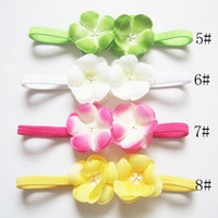 Wholesale Colorful Color Baby Kids Beautiful Cloth Hair Jewelry Headband Fashion Ribbon Girl Lace Hair Accessories DHL