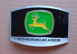 black color John deere Nothing runs like a deere BELT BUCKLE SW-305,Free shipping