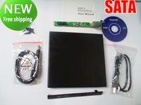 Wholesale USB External SATA CD DVD Combo Drive Enclosure Case NEW