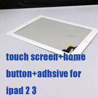 Wholesale Dropshipping Digitizer Touch Screen Pannel with M Adhesive And Button for ipad ipad3