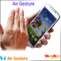Wholesale Original size S4 Air Gesture i9500 Quad core android MTK6589 phone with Screen cell Phone