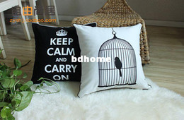 Wholesale Quality Sofa Cover Chair Cover Cotton Cushion Cover White base with Black Cage Throw Pillows x45cm