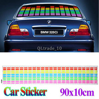 Personalized Sticker Whole Body 2 inch 90cm *10cm Sound Music Activated EL Sheet Car Stickers Equalizer Glow Flash Panel Multi Color decorative Light car Accessories TV151 10pcs