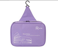 Wholesale waterproof Cosmetic bag big capacity toilet kit travelling wash bag hanging toiletry kit Color make up bag