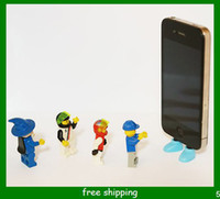 al por mayor zapatos de enchufe-Zapatos al por mayor a prueba de polvo del enchufe de línea de datos Plug prueba de polvo Boca soporte para el iPhone 5 el envío libre