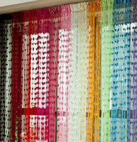 Wholesale Stainless Heart Tassel Drape Panel Line String Curtain for Wall Vestibule Door Window H0575