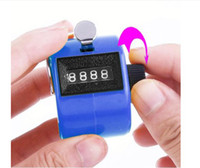 Wholesale NB chrome hand tally counter digit number clicker golf TMJS01 color blue DHL freeshipping