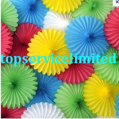 2017 paper tissue giant coloured fan decorationstissue fantissue paper fan decorationspaper fanflower fan from topservicelimited 4819 dhgatecom - Tissue Paper Decorations