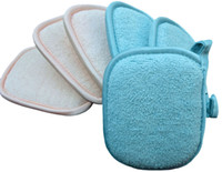 Wholesale 4pcs Microfibre Microfiber Facial Cleansing Pads Face Deep Clean Exfoliate Sponge w loop