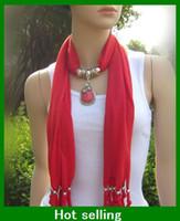 Wholesale women Pendant Scarf Jewelry Scarves Pendants lady s Necklace Scarves Colors Mix Scarf Accessories