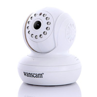 Wholesale ireless WiFi IP Camera IR LED Night Vision Dual Audio Webcam White dropshipping freeshipping