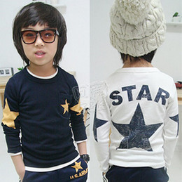 Wholesale Spring and autumn children s long sleeved T shirt kids clothes baby boy tops tees