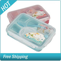 Wholesale 5 Compartment Picnic Food Lunch Bento Box