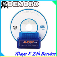 Wholesale Super Mini ELM327 ELM Bluetooth V1 OBD2 OBD II CAN BUS Car auto Diagnostic Scanner Tool obd ii scanner