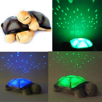 Wholesale Hot Sale Twilight Turtle Night Light start for Children Music Lights Mini Projector Colors Songs Star Lamp CWC00042
