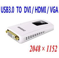 Wholesale USB3 to DVI Adapter HD P USB3 to VGA DVI HDMI Graphics Card Maximum support