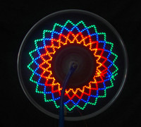 Wholesale 16LED patterns Straw hat LED Sopke Bicycle Wheel Display light Double side visibility Waterproof Slow Speed required Spoke Cycling lights