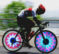 Wholesale Rainbow full Color LED Spoke Bike Wheel light SMD Double side displaying patterns