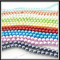 1000pcs lot Mixed Nine Colors Faux Glass Pearl Loose Beads 8...