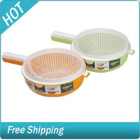 Wholesale Pint sized Mulit purpose Bushing Screen Double decker Drain Basket Wash Rice and Vegetable