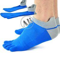 Wholesale NEW Antibacterial Breathable Short Tube Cotton Five Toe Socks Sports socks