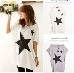 Wholesale CREW NECK SHORT SLEEVE STAR PRINT T SHIRT Drop Shipping CWC00039