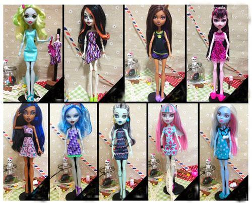 Как сделать платье для куклы монстер хай картинки
