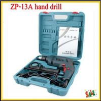 Wholesale 2013 Electric Drill High Impact Drill Hammer Drill Kit multifunction two hand household with Plastic boxes fast shipping and good quality