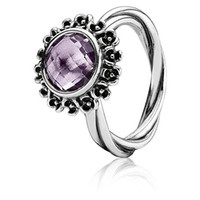 Wholesale Authentic Sterling Silver Amethyst Wanda Ring Match with Pandora Jewelry
