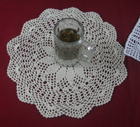 Wholesale cotton hand made crochet doily lace cup mat vase mat coaster x40cm table mat customization tm607