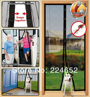 Wholesale New Magic Mesh Hands Free Screen Magnet Door Curtain Magnetic Anti Mosquito Bug Great For Pets