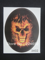 other   10pcs lot FlaMes Skull Car Motorcycle Auto Racing Decal Sticker Free Shipping