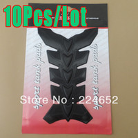 Wholesale 10Pcs Hot Sale Motorcycle Polyester Resin Rubber Tank Pad Protector Decals Sticker Black