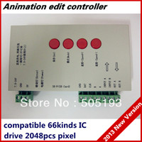 Wholesale TM1804 LPD6803 DMX512 WS2811 DC5 V RGB Pixel Controller for Pixel led lights MAX control IC Version Software