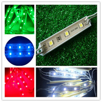 Wholesale waterproof high brightness led modules for Sign boxes x3leds DC12V work voltage