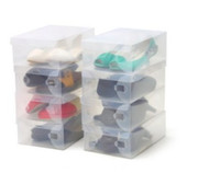 Plastic clear plastic shoe box - Pieces Clear Plastic Shoe Storage Transparent Boxes Shoes Storage Box Debris Storage Box Clamshell Shoebox
