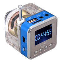 Wholesale 6 Colors Digital Portable Mini Speaker Music MP3 Player Micro SD TF USB Disk Speaker FM Radio LCD Display