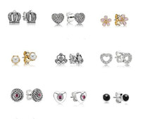stud earring lot - quot Buy Two One Free quot promotional event New Arrivals European Silver Earring for PANDORA Stud Earrings pairs