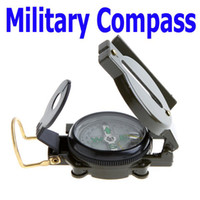 Wholesale Mini Military Lensatic Watch Pocket Compass Magnifier Army Green for Camping Hunting Marching