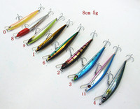 Wholesale new arrivals slender minnow bait fishing lures hard bait fishing tackle plastic lip china hook floating two size multiple color choices