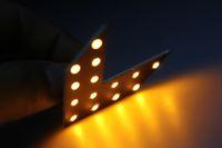 12V   10pcs Arrow LED BULE YELLOW GREEN 14-SMD Arrow LED Panels for Car Mirror Turn Signal Lights free shipping