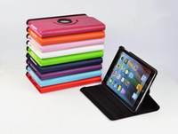 Wholesale 360 Rotating FLIP PU Leather TABLET Case Smart Cover For iPad AIR inch Tablet CASE