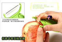 Wholesale Portable Fruit Peeler Kitchen Tools apple shape Fruit Peeler Folding Fruit peeler